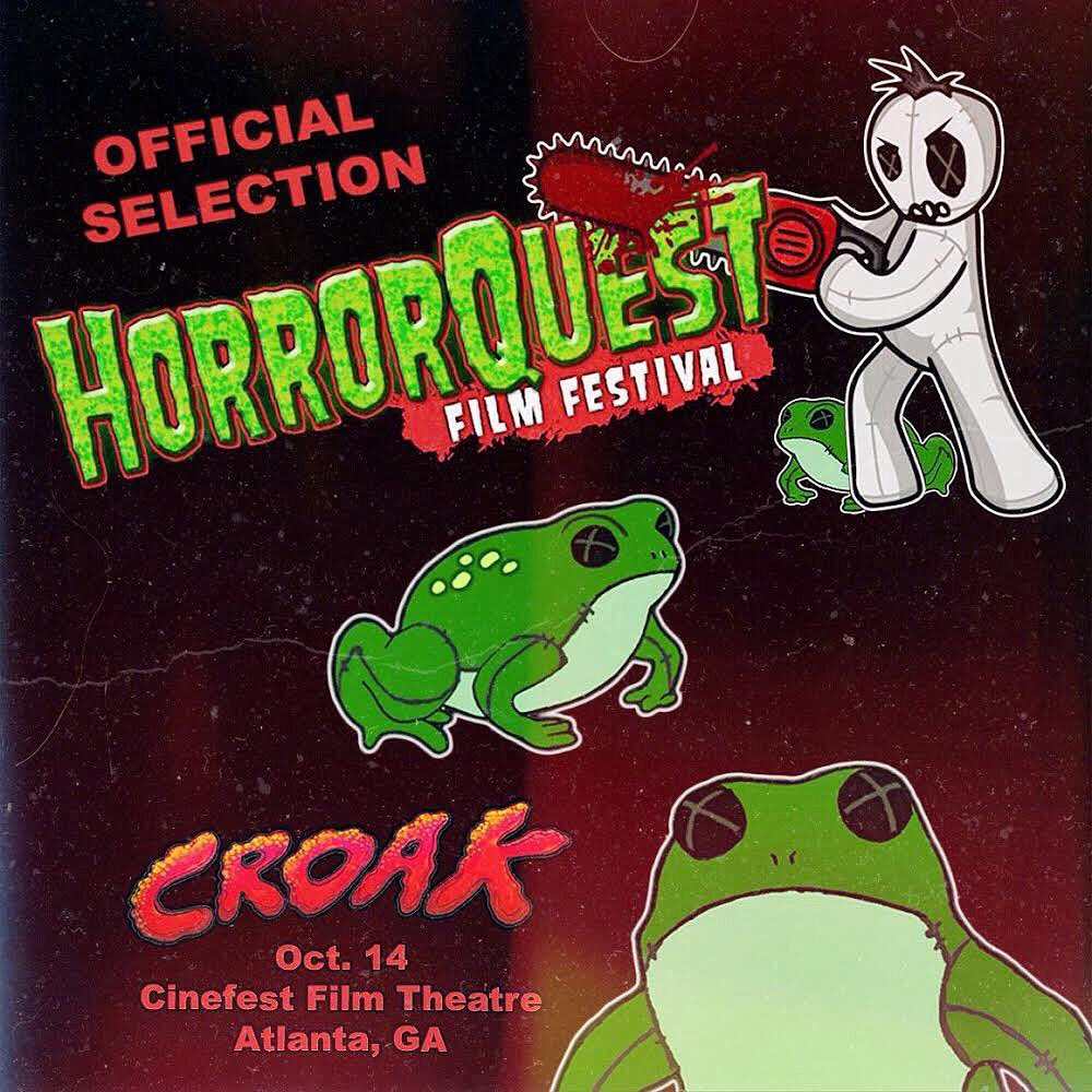 &quot;CROAK&quot; is an Official Selection at the @HorrorQuest Film Festival! #CROAK #ATL #ILM #frog #toad #TOADallycool #horror #SFX #CalamityEffects<br>http://pic.twitter.com/9Tj0nCICaW