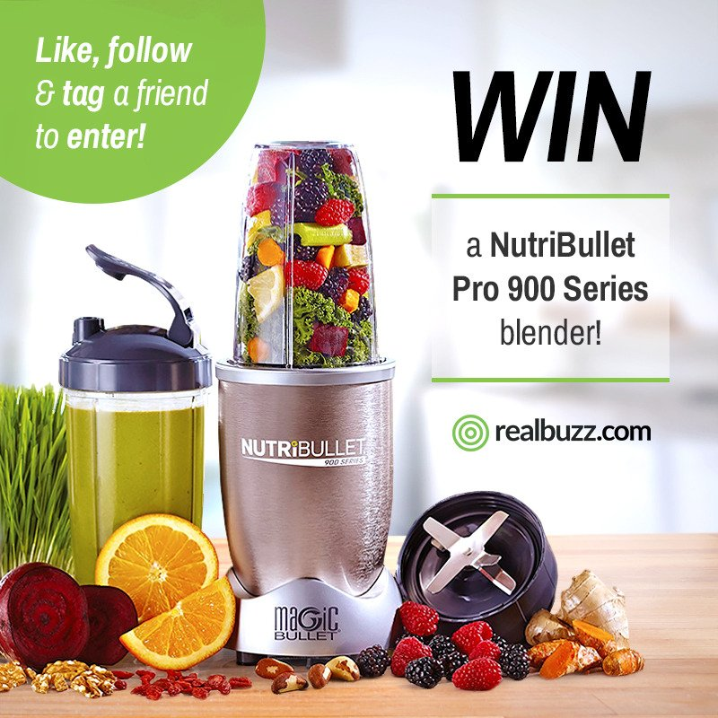 Follow us on Instagram for a chance to #win a NutriBullet Pro 900 Series Blender in our August  #giveaway. Click   http:// bit.ly/2v129D4  &nbsp;  <br>http://pic.twitter.com/sHBYBEeF7C