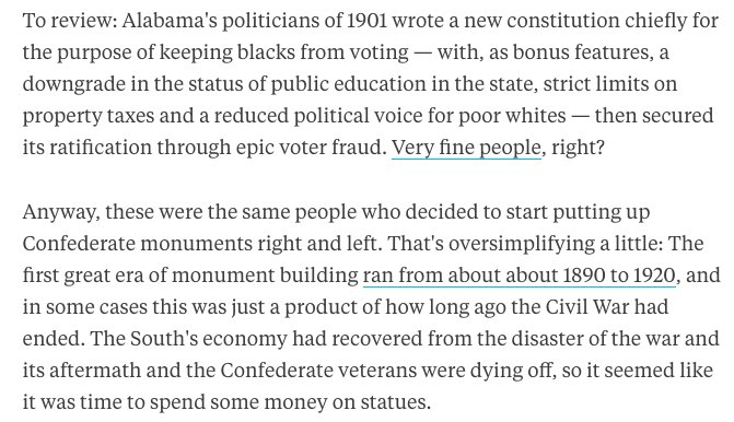 Read @foxjust's superb history of Confederate monuments https://t.co/iDzfT0mvDv