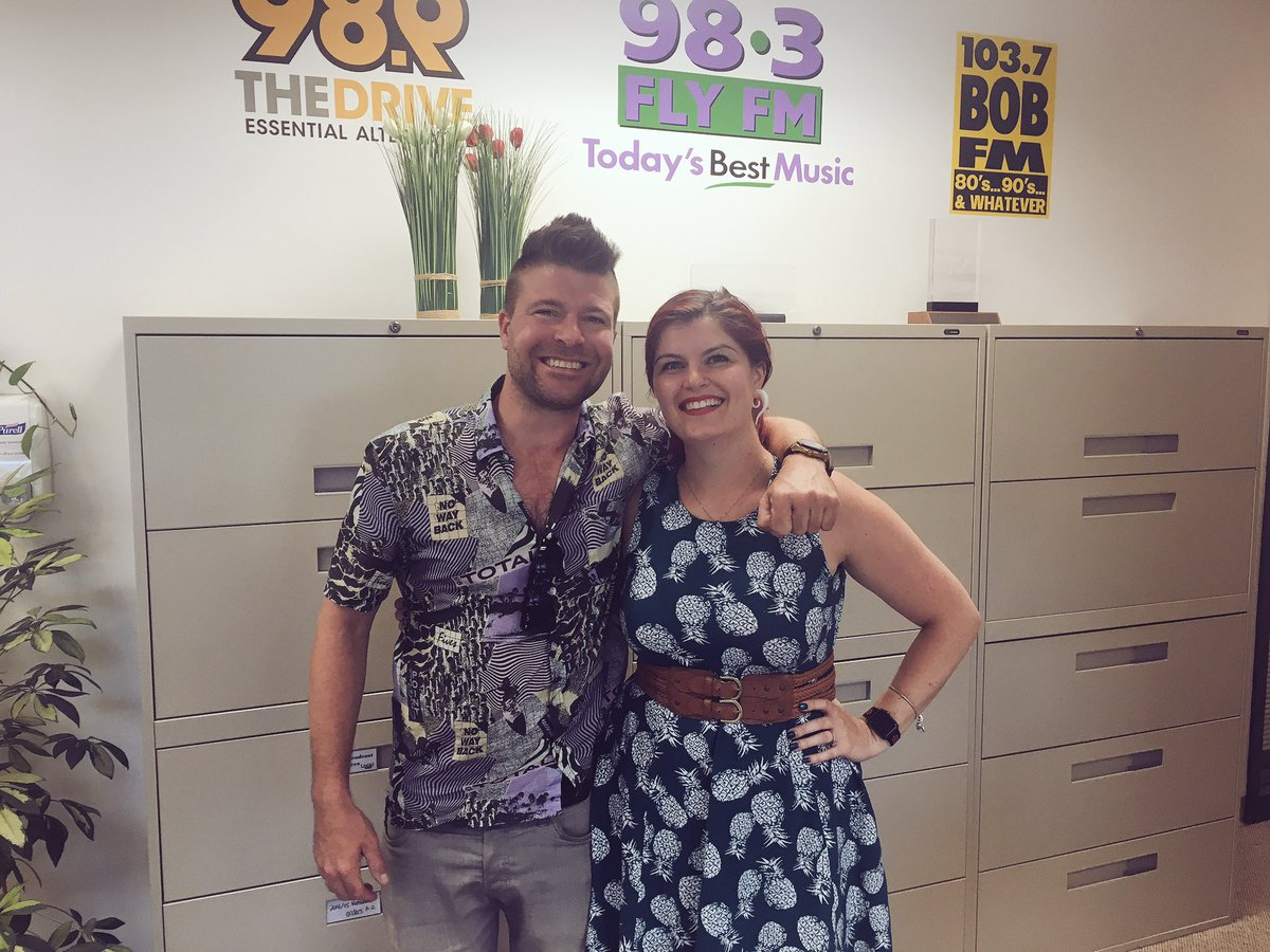 Always the best visits from @HUMANKEBAB at @989THEDRIVE studios! #ygk @liamkilleen you are also welcome any time! thanks guys!<br>http://pic.twitter.com/xd4jMdTpFy