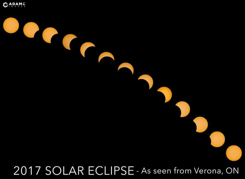 Great time lapse of yesterday&#39;s solar eclipse, as seen locally, by super talented photographer @ACPhoto83! #ygk #SolarEclipse2017 <br>http://pic.twitter.com/hnb1ibECyw