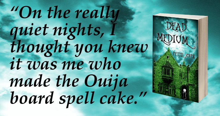 """""""On the really quiet nights, I thought you knew it was me who made the Ouija board spell cake.""""  http:// viewbook.at/DeadMedium  &nbsp;   #T4US #Books #Kindle<br>http://pic.twitter.com/UKEeixPLAw"""
