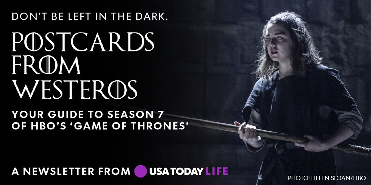 Sign up for our Postcards from Westeros newsletter so you can catch up with #GameOfThrones before the season ends: https://t.co/0PDqUY51fA