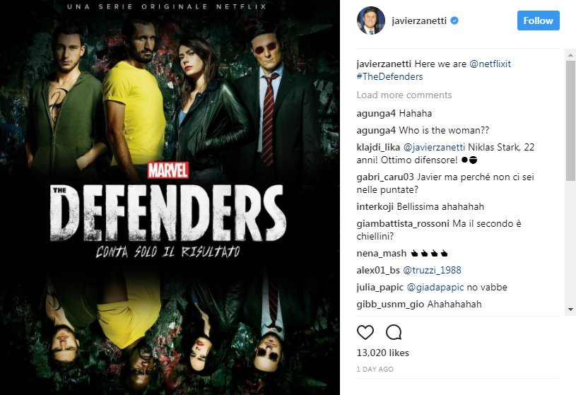 "Netflix promuove ""The defenders"", nello spot Darmian, Zanetti e Chiellini - https://t.co/hZwIqCaqIy #blogsicilianotizie #todaysport"