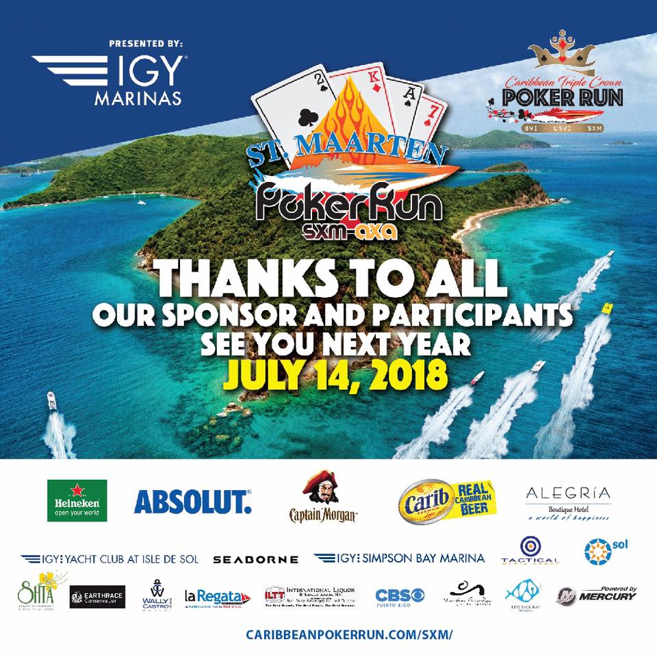 Alegria Boutique Hotel official event hotel for the Poker Run SXM 2018 #boatraces #speed #Competition #racing #sxm #alegriaboutiquehotel