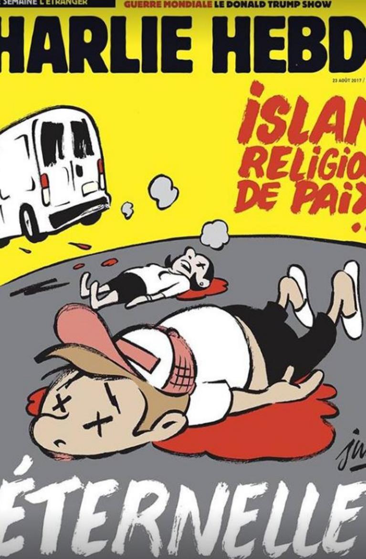 La 'Une' de Charlie Hebdo consacrée aux attentats en Catalogne accusée d'amalgame entre islam et terrorisme https://t.co/ipuDZY9yC3