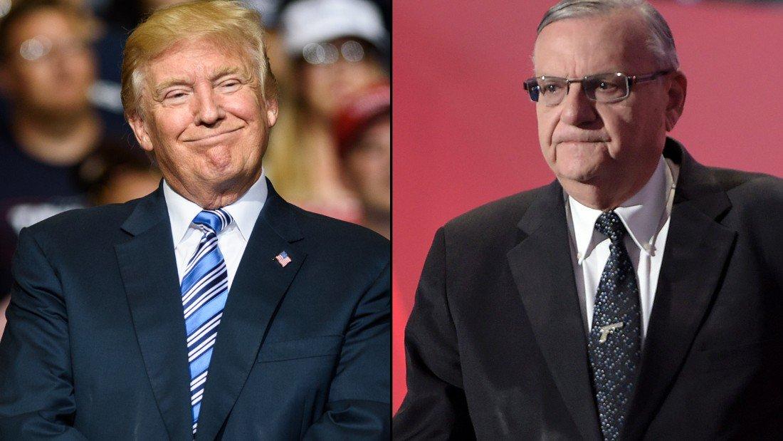Trump won't say whether he'll pardon controversial ex-sheriff Arpaio on Tuesday, White House press secretary says https://t.co/pC5mYlMFcS
