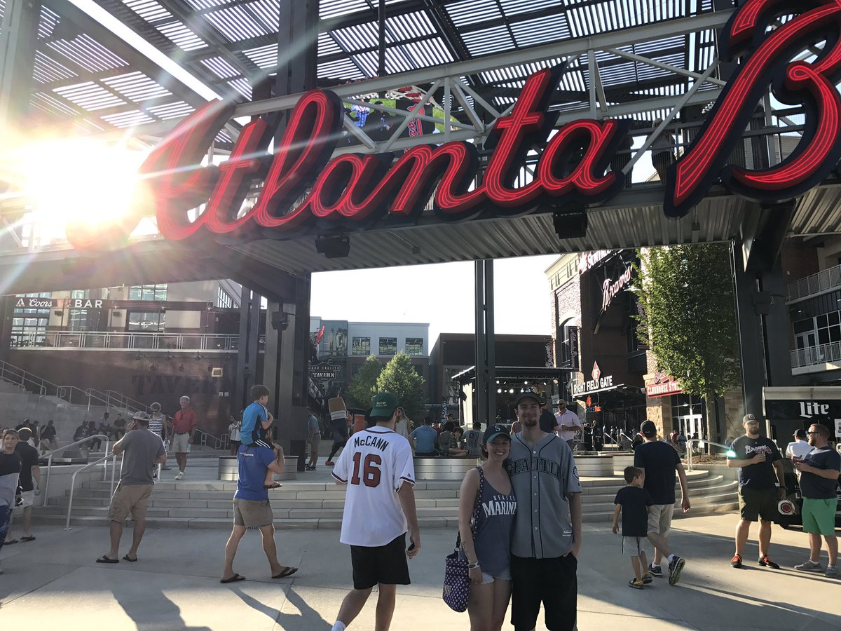 Catching the M's in Atlanta! #GoMariners...