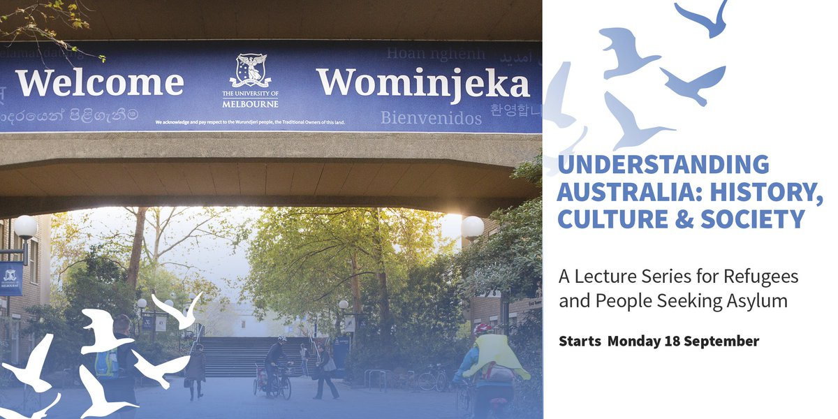 Spread the word – our lecture series for #refugees and people seeking asylum is returning this September  http:// socialequity.unimelb.edu.au/news/events/le cture-series-for-asylum-seekers/ &nbsp; … <br>http://pic.twitter.com/Wq6S90zSvH
