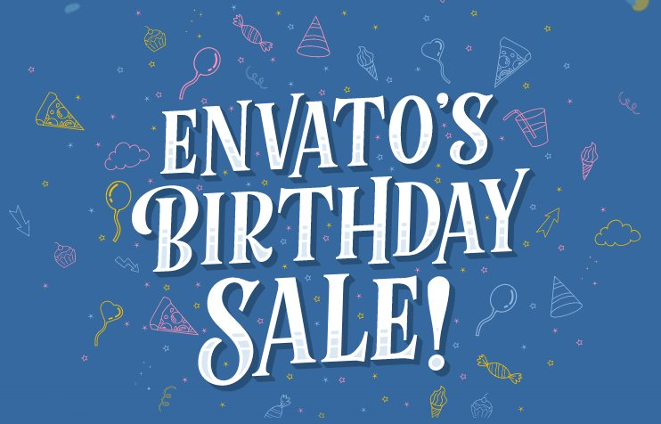 Whoa! Envato's Birthday Sale! Get 50% off 300+ Envato Market items, WordPress themes. Freebies &amp; More. #discount  http:// bit.ly/2g5ABqB  &nbsp;  <br>http://pic.twitter.com/YcfUyrCkE5