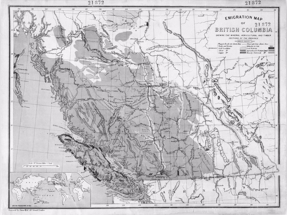 oh nothing just an emigration map of unceded BC with no hint of the Indigenous people living there already, 1873. #Canada150  #whitewash<br>http://pic.twitter.com/b2b5F0RG6S
