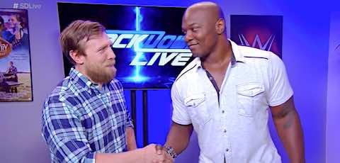 [WWE・速報] 8月22日放送のスマックダウンLIVE:続いてシェルトン・ベンジャミンが登場! →  ベンジャミンは誰とタッグを組むのか? #wwe_jp