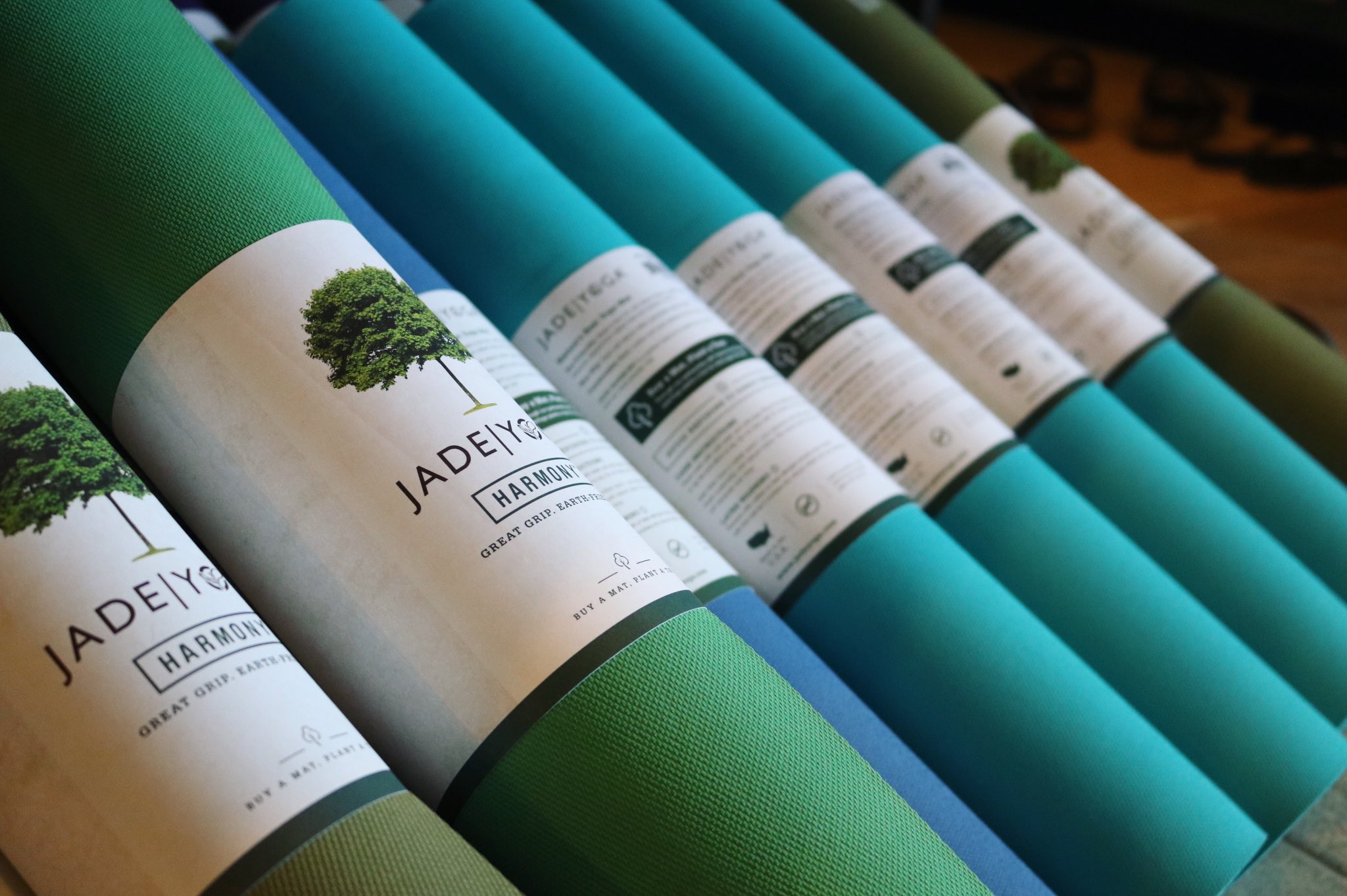 Yoga Bliss Akron On Twitter New Jade Yoga Mats Are In Available In All Sizes And Beautiful Colors Including Teal Jungle Green And Saffron