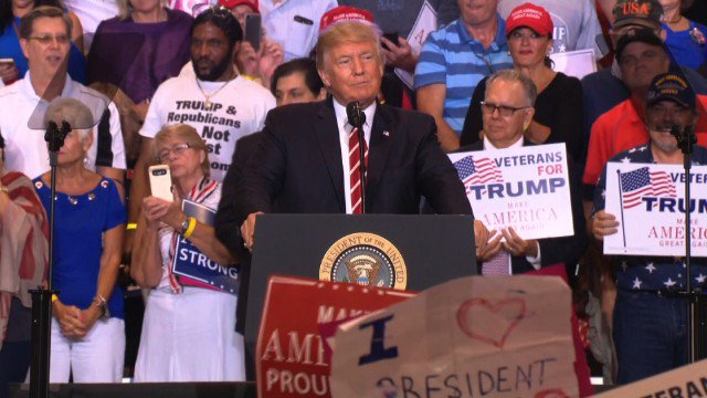 Trump says at campaign rally: I strongly condemn neo-Nazis, white supremacists and the KKK. Follow live: https://t.co/cLxsde7YP6