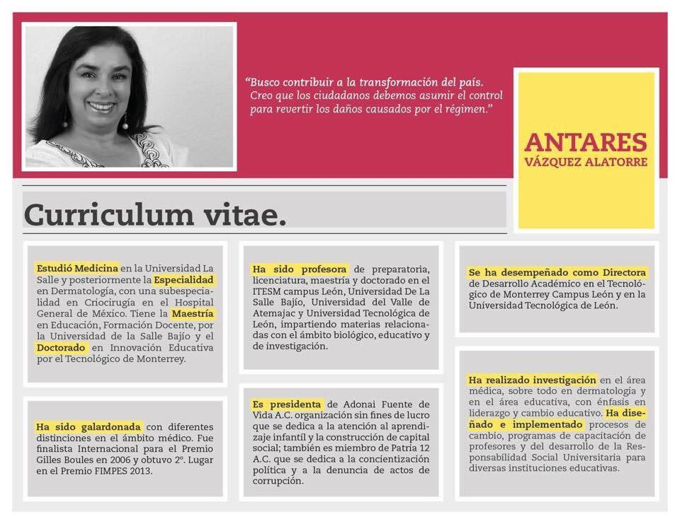 Quién es @AntaresVazAla la precandidata de MORENA en los caminos de Guanajuato:  https://t.co/srBSHtBoBh  @HistoriaPedro @malumicher