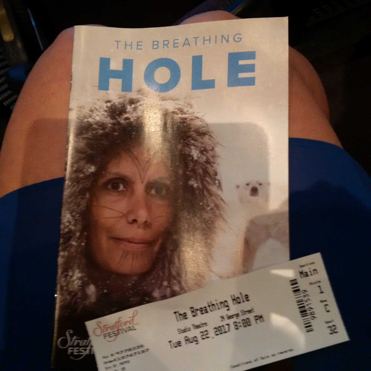 Blown away by &quot;Breathing Hole&quot; @stratfest. Powerful performance and msg. #TRC #Inuit #Indigenous #PolarBear #climate<br>http://pic.twitter.com/V3U1e0qEpG