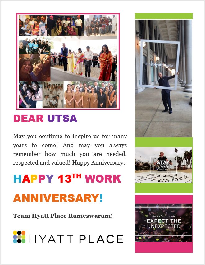 #Congratulations @utsa_majumder on your successful 13 Years with @Hyatt. Many More to go.....@HyattEAMESWA<br>http://pic.twitter.com/zHdb3uXE4X