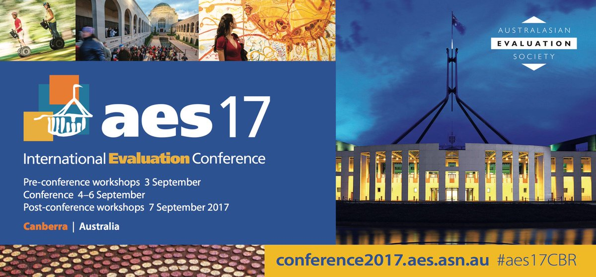 14 #evaluation workshops to choose from #aes17CBR 3-7 Sept  http:// conference2017.aes.asn.au/index.php/the- conference/conference-workshop-program &nbsp; … <br>http://pic.twitter.com/HWXxdyiBw0