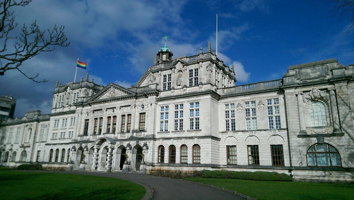 The rainbow flag will be flying above @cardiffuni main building all weekend for #Pride &amp; is also flown for LGBT History Month #FunWithFlags<br>http://pic.twitter.com/CTNKBs419w