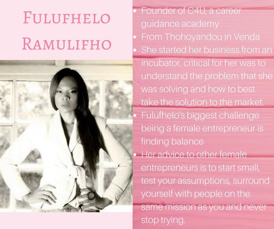 Meet @fuluR  • Founder of @C4U_sa • Leader • Mentor • Motivational speaker  #WCW #WomensMonth #WomeninBusiness #entrepreneurs #business<br>http://pic.twitter.com/6Gq7vQTB5V