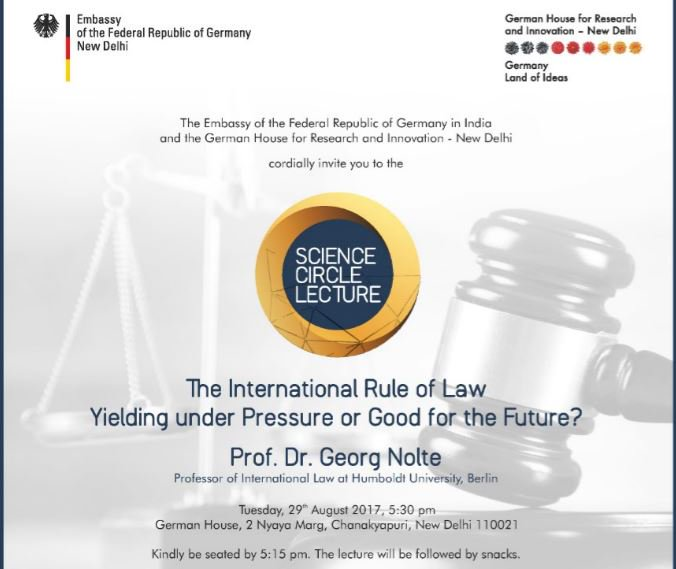 Science Circle Lecture - 29th August|5:30 P.M|German House, New Delhi  Register here:  http:// eepurl.com/cXvpLb  &nbsp;   #science #lecture #law #event <br>http://pic.twitter.com/0hoL1eDnBj