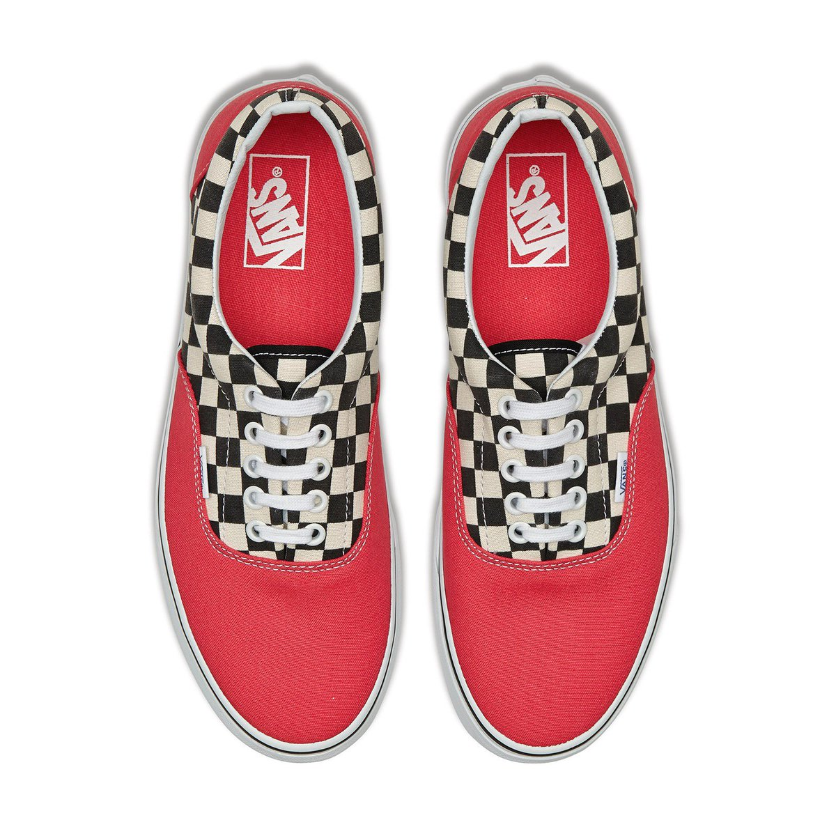 Vans - Era 2 Tone Check Sneakers Red Check    Under £40 in SALE here --&gt;  http:// tinyurl.com/y8rfahr7  &nbsp;    #sale #vans #trainers #deals<br>http://pic.twitter.com/E4Cvswarfq