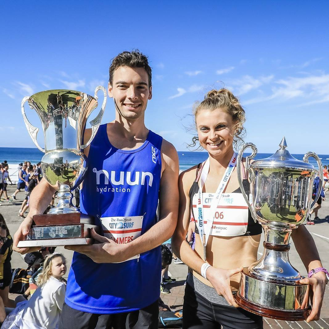 #City2Surf: The Winners and their trophi...