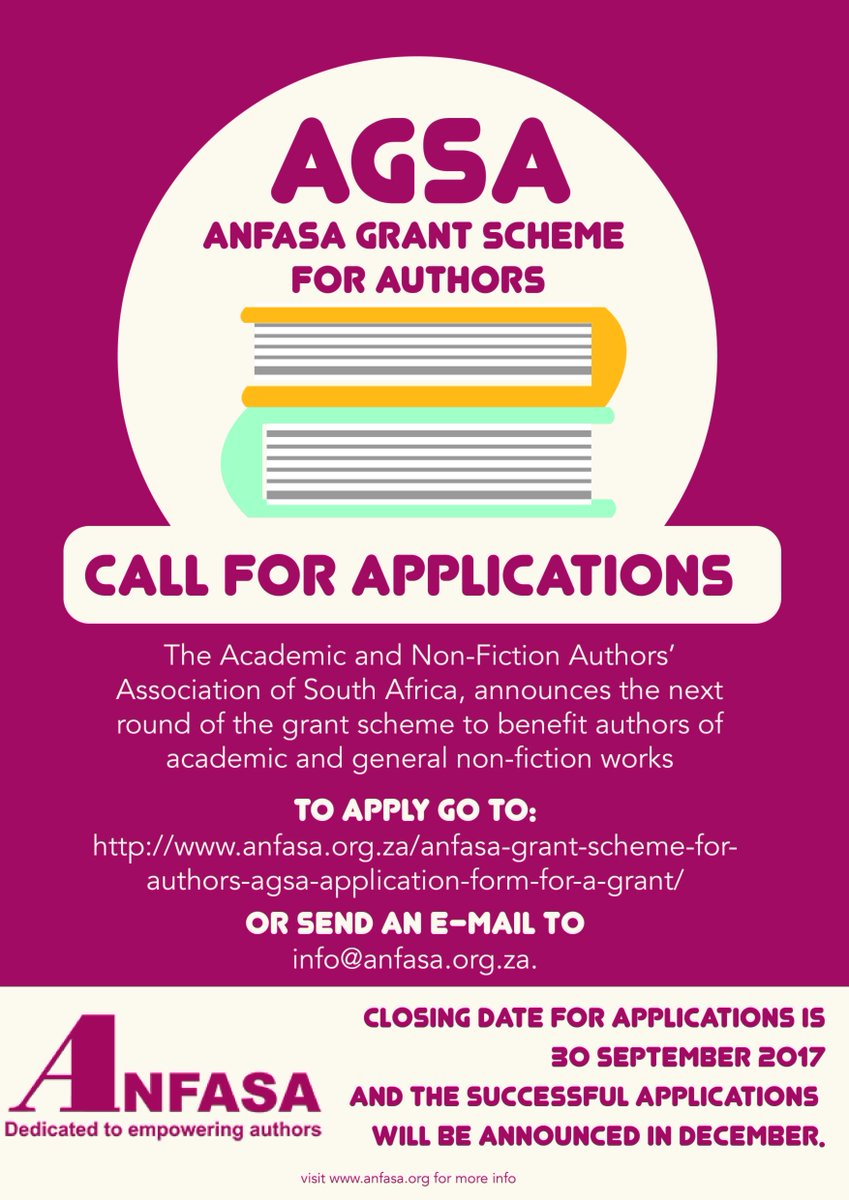 The next round of the #grantscheme to benefit #authors of #academic and general non-fiction works is now open until end September 2017. <br>http://pic.twitter.com/dGwlIwnzsg