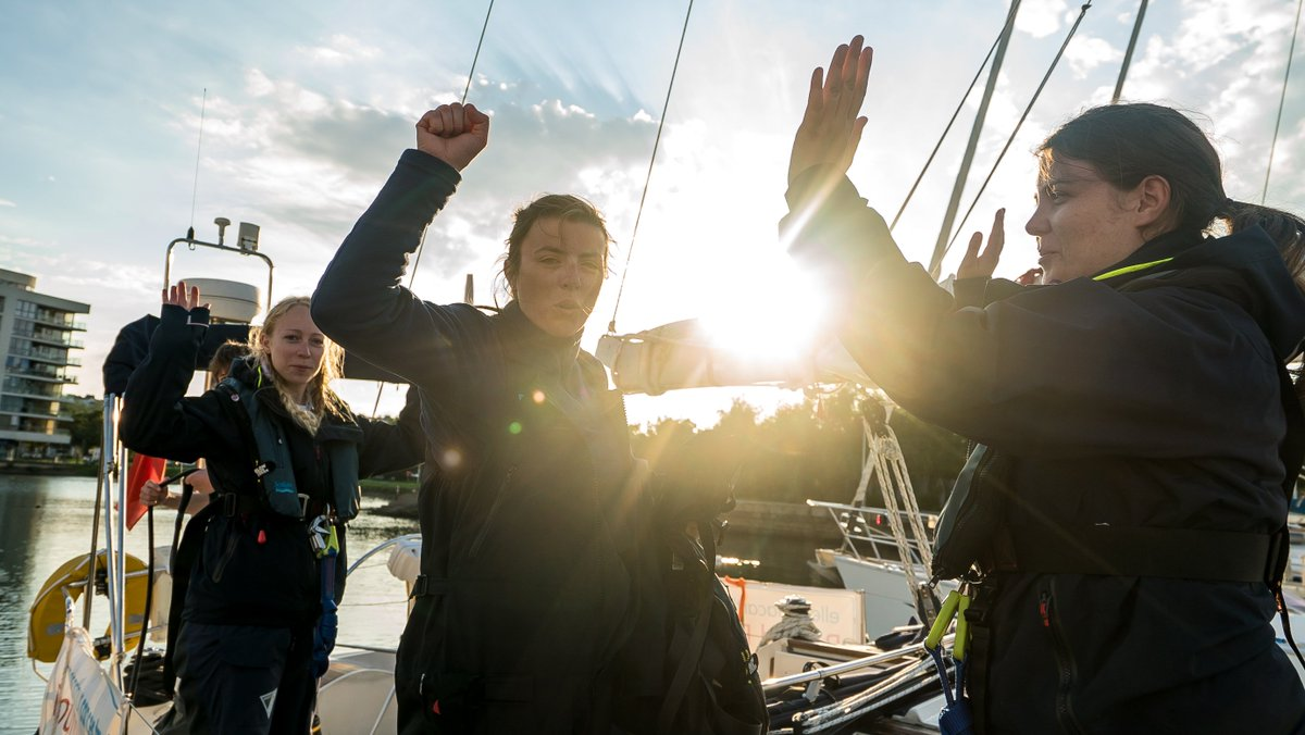 Amazing achievement by all on Moonspray! Arrived safely in #Portishead last night and will be alongside for a rest today! #RoundBritain2017