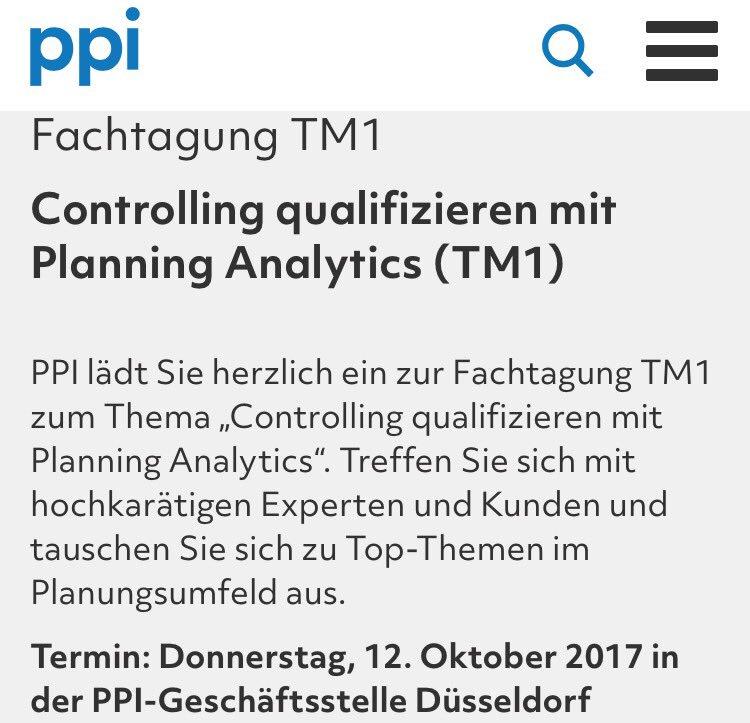 fachtagung tm1 controlling qualifizieren mit planning analytics tm1 httpstcovh30ad5ra1 httpstcowg5wwajtzx - Bewerbung Controlling