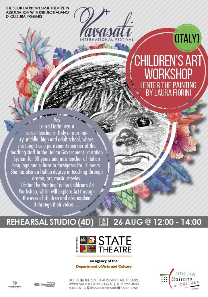 #FREE #CHILDREN&#39;S #ART #WORKSHOP! Date: Sat, 26 Aug Time: 12:00 - 14:00 Venue: Studio 4D, #StateTheatre Bookings: tsakani@statetheatre.co.za<br>http://pic.twitter.com/xfN9YaVHmx