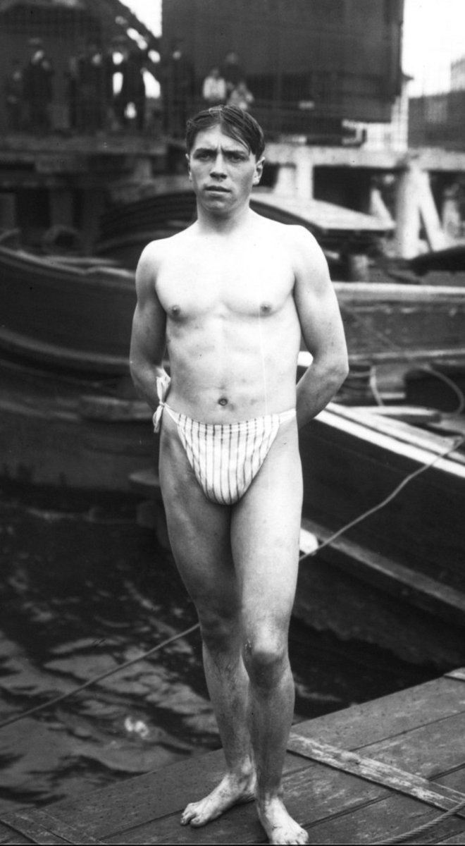 By Jove, that&#39;s what I call a swimsuit ! @GallicaBnF Paris,1910 #swimming #natation #swimmers #swimsuit #SportHistory #Paris2024 <br>http://pic.twitter.com/noRWypFwze