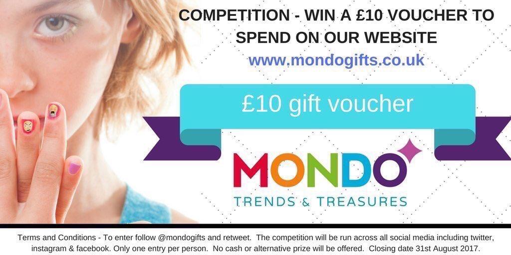 #COMPETITION Win a £10 gift voucher from  http://www. mondogifts.co.uk  &nbsp;   To enter LIKE this tweet FOLLOW @mondogifts &amp; RETWEET #Winitwednesday<br>http://pic.twitter.com/pIZMrmBQeG