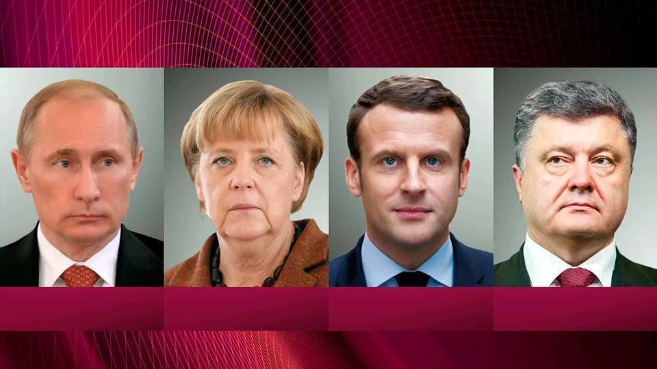 Presidents #Putin, #Macron, Poroshenko &amp; Chancellor #Merkel voice support for ceasefire in Donbass before the start of new school year <br>http://pic.twitter.com/XzuoC0NMVH
