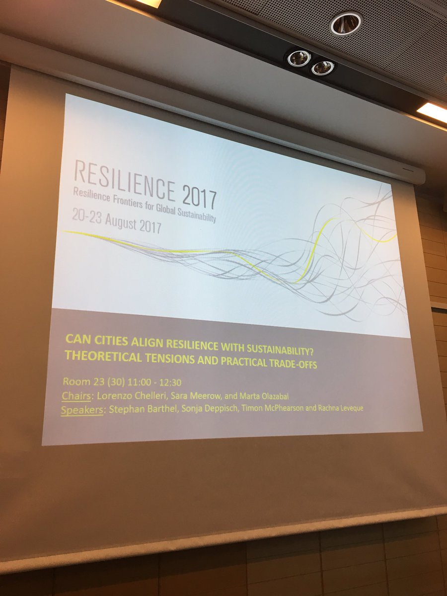 Our session on #urban #resilience trade-offs happening now room 23 #Res2017 #ResFrontiers<br>http://pic.twitter.com/VdLuVhih20