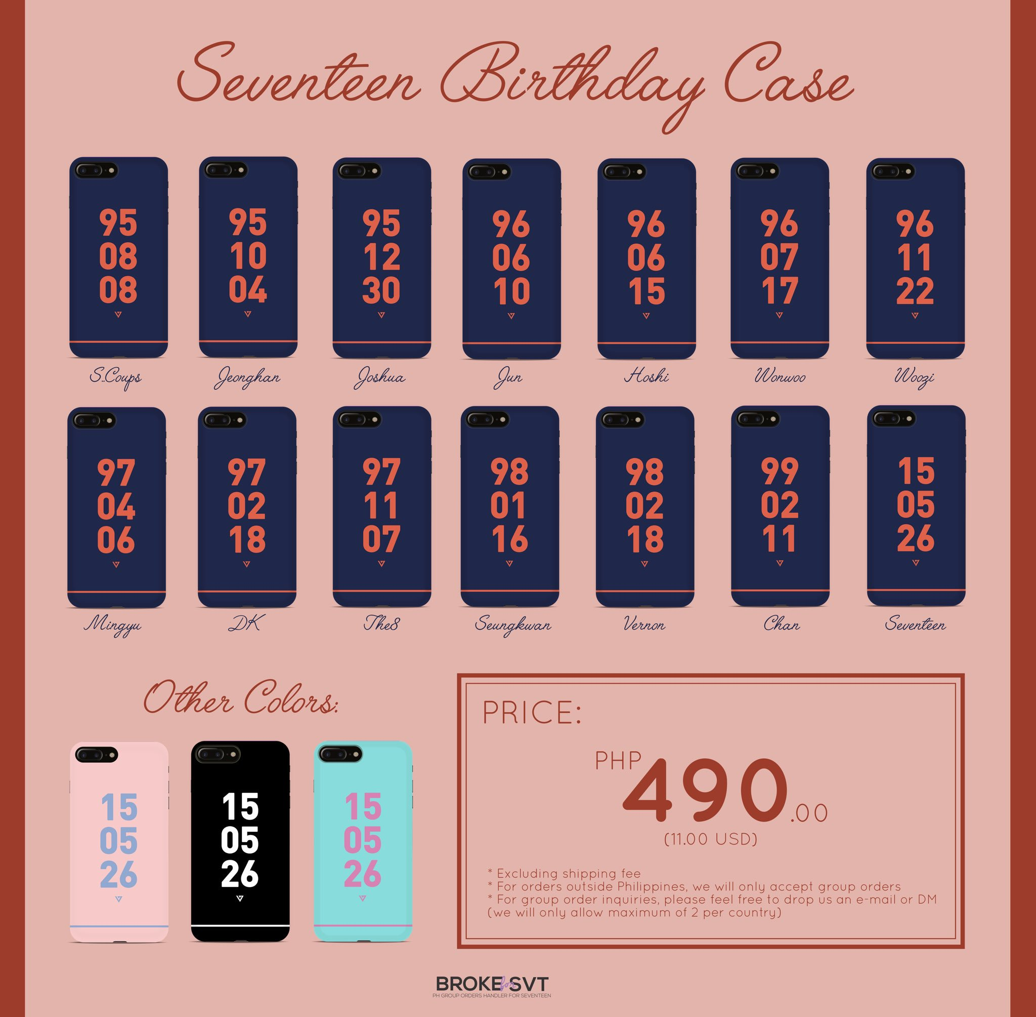 ⭐️ SEVENTEEN BIRTHDAY CASE ⭐️   More details and order form: https://t.co/xVuKhqMUjt https://t.co/0ZwBofMcMc