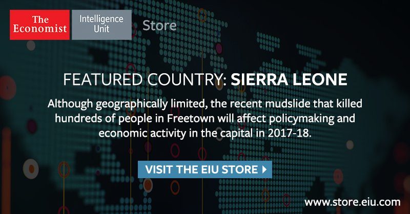 Check out the EIU store to gain access to up-to-date political and economic analysis of Sierra Leone: https://t.co/9GqxWQCdaI
