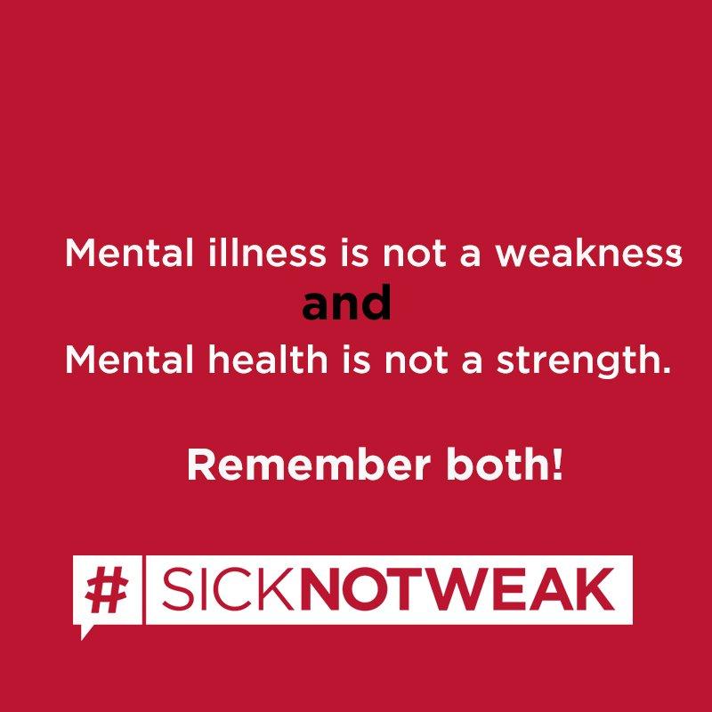 #SickNotWeak