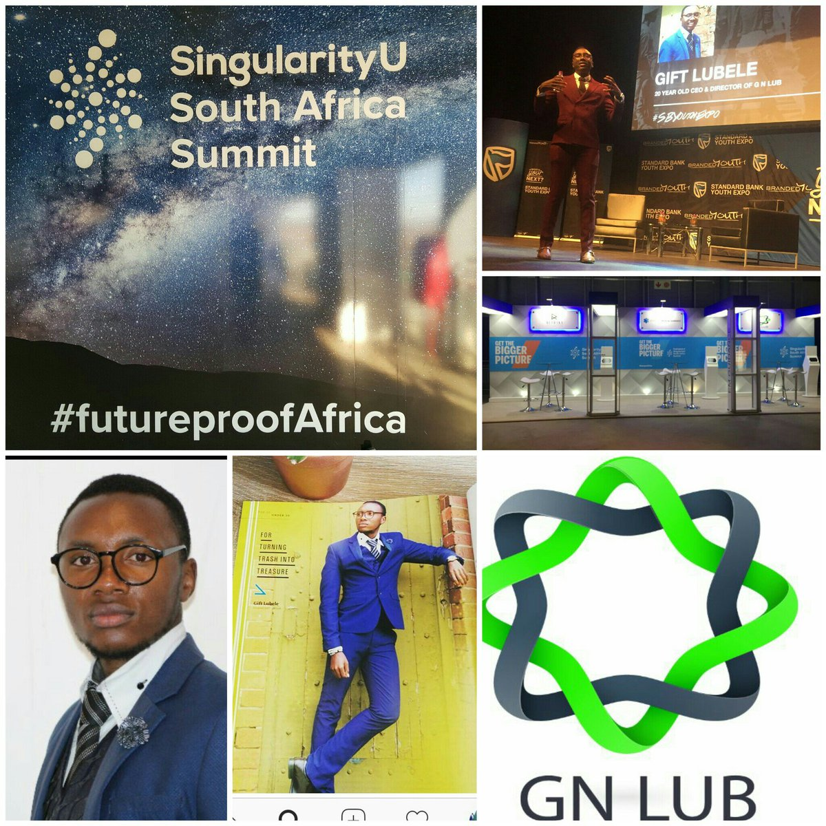 He&#39;s 20 &amp; doing amazing things in the space of recycling. Meet one of our youngest #entrepreneurs @SUSouthAfrica @SBGroup #FutureProofAfrica<br>http://pic.twitter.com/7AOFzkvohj