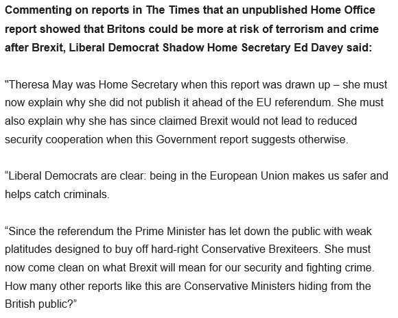 .@EdwardJDavey : How many other reports like this are Conservative Ministers hiding from the British public?