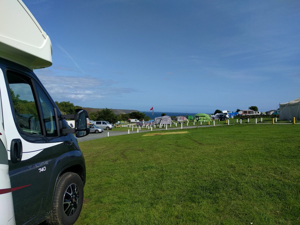 @swcamperhire at the first campsite! Lovely views from are van!  #vanlife <br>http://pic.twitter.com/SSs2VGeUUN