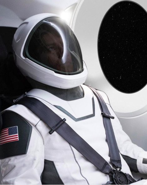 Elon Musk reveals first official photo of SpaceX spacesuit https://t.co/OeU0aj3cLx