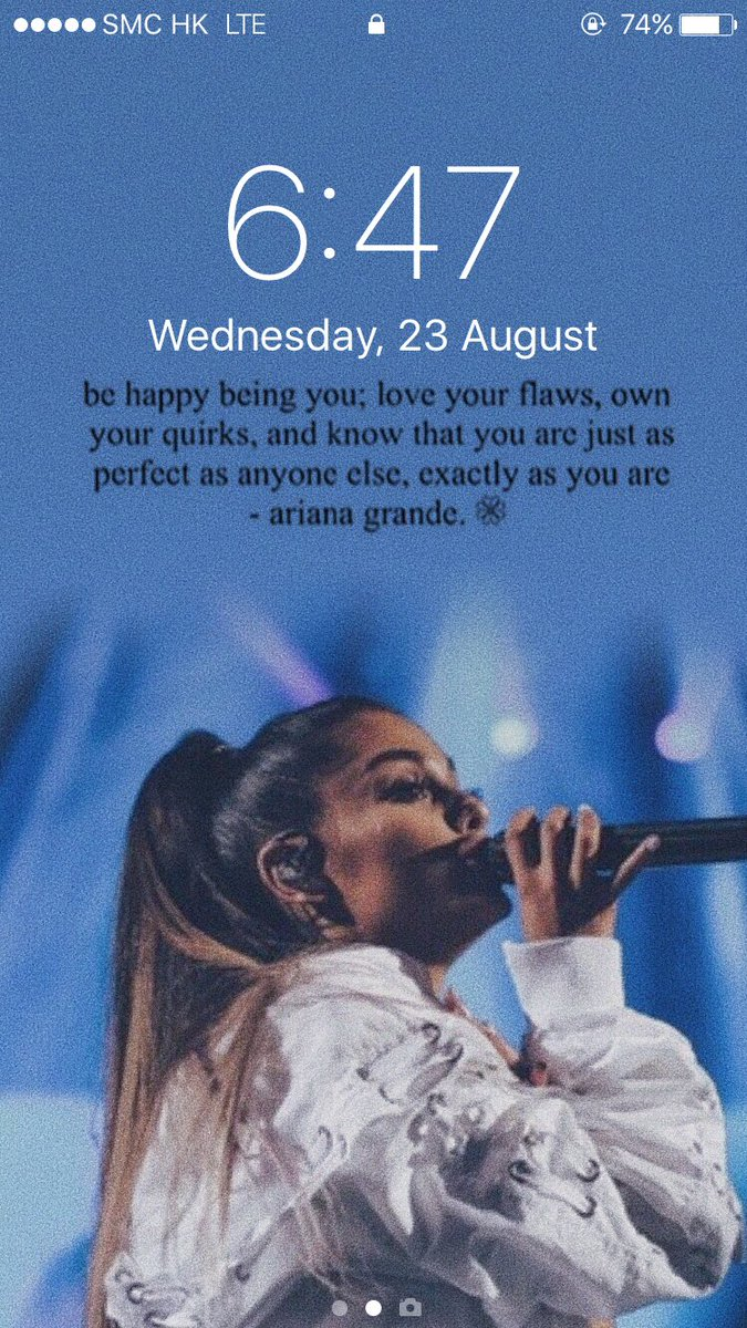 lockscreen🌙 on 💦 ariana grande blue quotes lockscreen