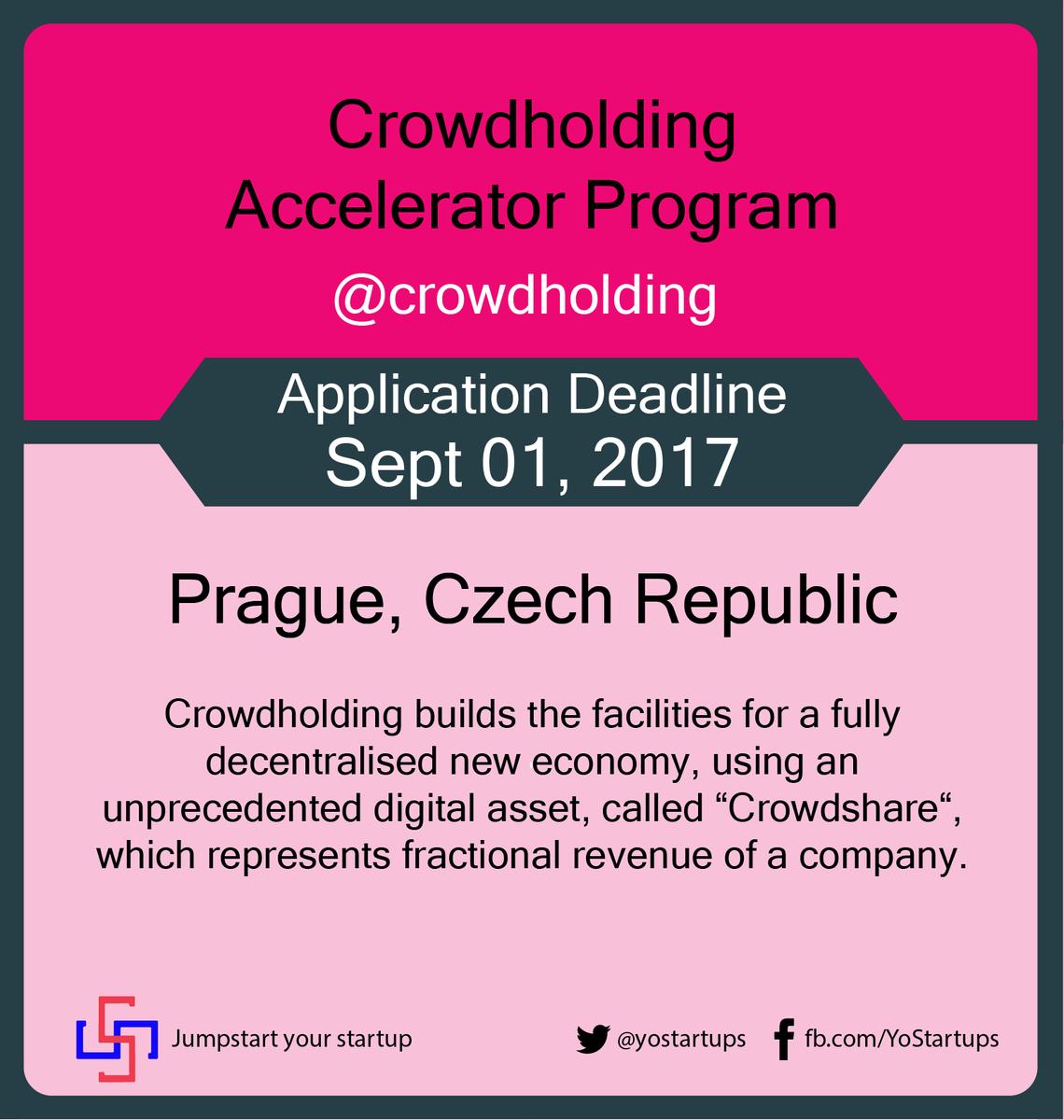 Checkout @crowdholding #accelerator program providing co-creation platform for better collaboration #yostartups  https:// goo.gl/QAXWM5  &nbsp;  <br>http://pic.twitter.com/dGD32duRH6