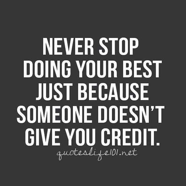 You don&#39;t need credit to know you are doing good.  #hardwork #success #work #credit #health #goals<br>http://pic.twitter.com/7RCnBAEafz