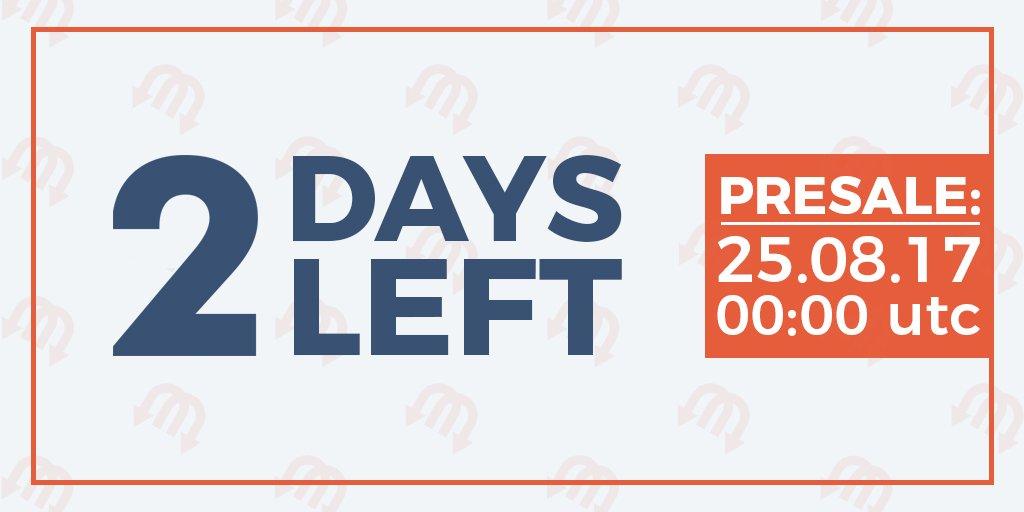 2 days left before Transmission PRE-SALE start!   https:// bitcointalk.org/index.php?topi c=2091630.40 &nbsp; …   #tmission #ico #tmn #crowdsale #ethereum #ICOtmn #presale<br>http://pic.twitter.com/JKZ3JEPmU9