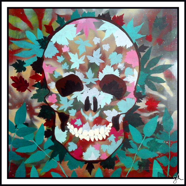 #skull by #steveparadise #art #indieartist #outsiderart #acrylic on #canvas <br>http://pic.twitter.com/xzhqnNvRDj