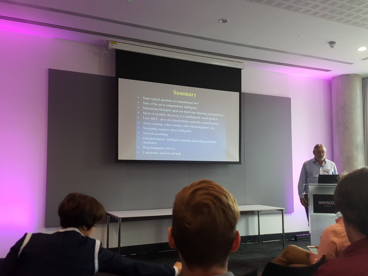 Douglas Kell @dbkell speaking at @ieeecis #CIBCB2017 on applications of #CI for biology and biotechnology in #Manchester #UK.<br>http://pic.twitter.com/c9VZo9ABOP