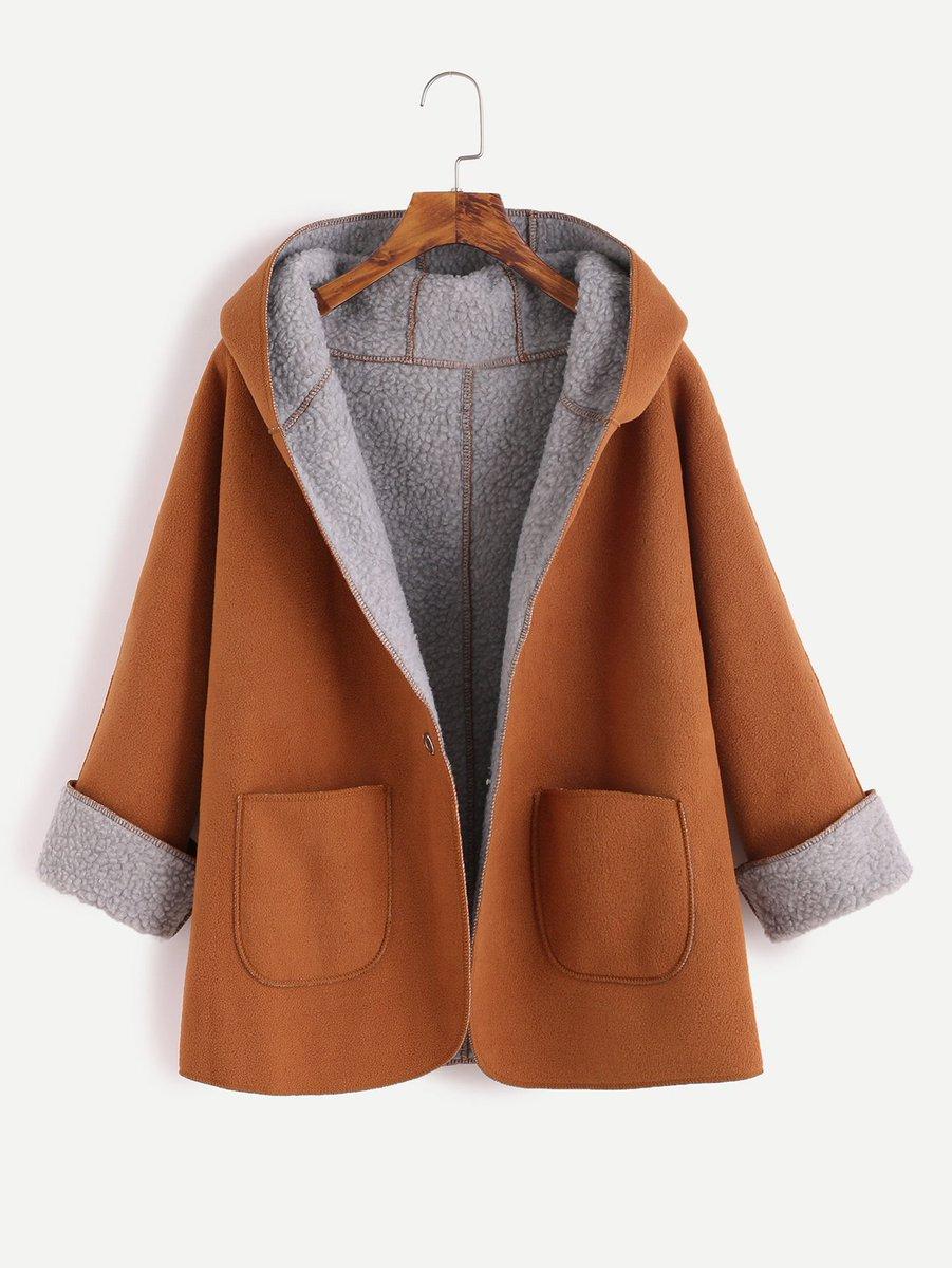 Khaki Contrast Sherpa Lining Single Button Hooded Coat     http:// ow.ly/T4Dv30eCiH2  &nbsp;   #flockbn #87RT #fashion #RT4RT #RT #likeforlike <br>http://pic.twitter.com/g9rka99EWt