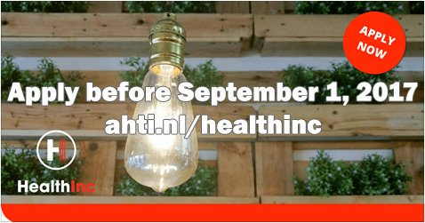 You can still apply for our #healthtech #accelerator program. Visit our website:  https:// ahti.nl/healthinc  &nbsp;  <br>http://pic.twitter.com/2wRRB6ipOd